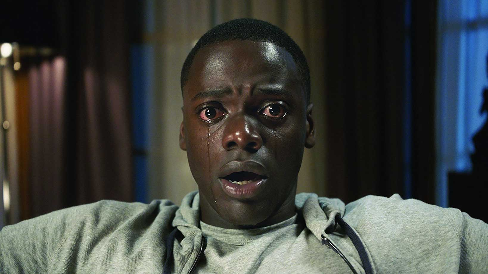Daniel Kaluya crying in Get Out, courtesy of Universal Studios